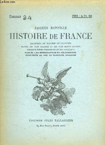 HISTOIRE DE FRANCE FASCICULE N° 34.