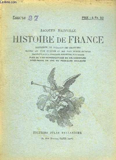 HISTOIRE DE FRANCE FASCICULE N° 32.
