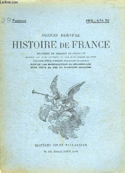 HISTOIRE DE FRANCE FASCICULE N° 29.