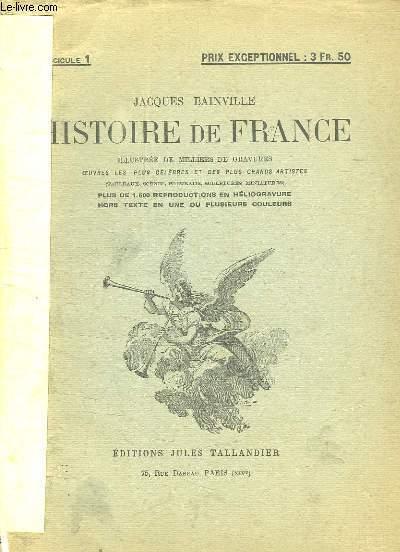 HISTOIRE DE FRANCE FASCICULE DU N° 1 AU N° 26.