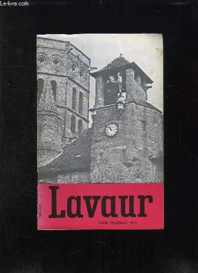 BROCHURE. LAVAUR. GUIDE RELIGIEUX 1978.
