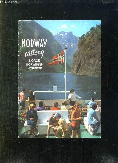 BROCHURE. NORWAY CALLING. NORGE, NORWEGEN, NORVEGE.
