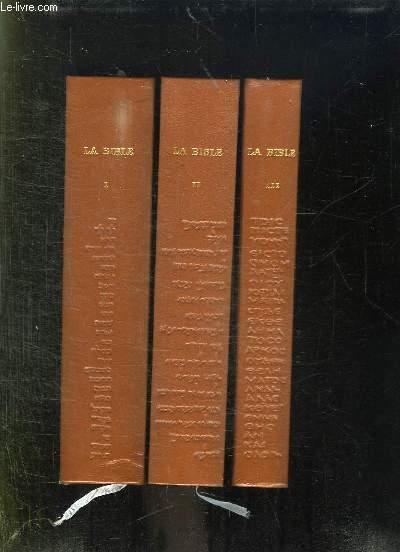 3 TOMES. LA SAINTE BIBLE.