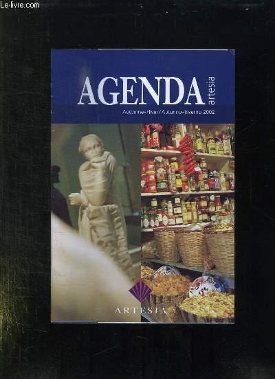 AGENDA AUTOMNE HIVER 2002.