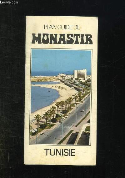 PLAN GUIDE DE MONASTIR. TUNISIE.