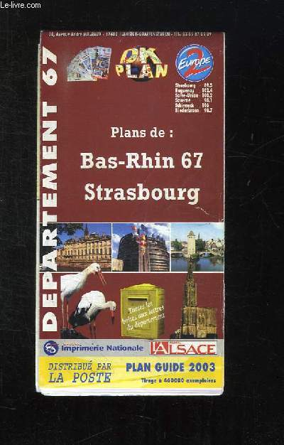 PLANS DE BAS RHIN 67 STRASBOURG.