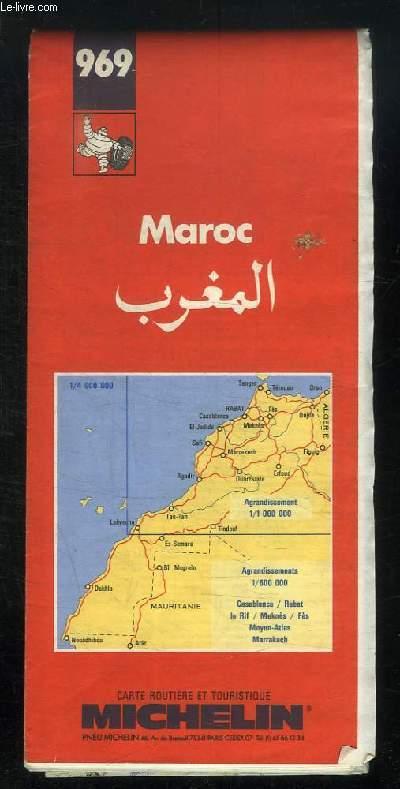 CARTE ROUTIERE ET TOURISTIQUE N° 969. MAROC.