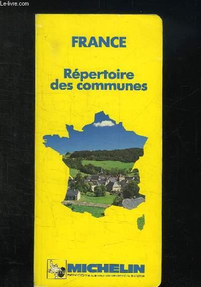 FRANCE. REPERTOIRE DES COMMUNES.