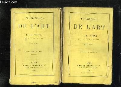 2 TOMES. PHILOSOPHIE DE L ART. 3em EDITION.