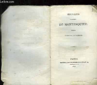 OEUVRES COMPLETES DE MONTESQUIEU TOME 7: GRANDEUR DES ROMAINS.