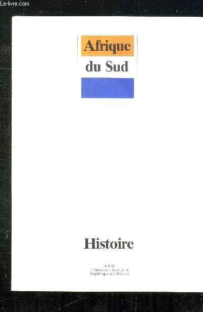 BROCHURE AFRIQUE DU SUD. HISTOIRE TIRE DE L ANNUAIRE OFFICIEL DE LA REPUBLIQUE SUD AFRICAINE.