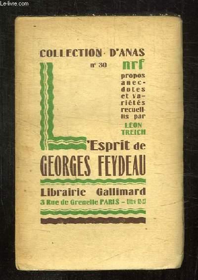 L ESPRITS DE GEORGES FEYDEAU.