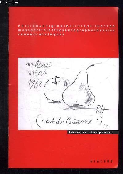 CATALOGUE ETE 1999.