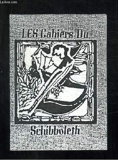 LES CAHIERS DU SCHIBBOLETH N° 13