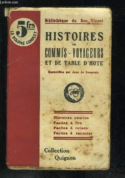 HISTOIRES DE COMMIS VOYAGEURS ET DE TABLE D HOTE.