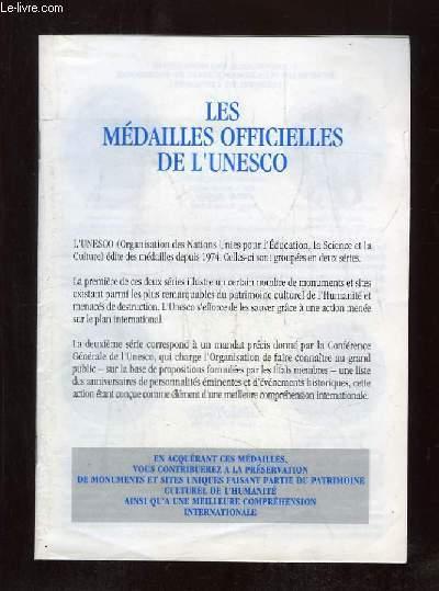 LES MEDAILLES OFFICIELLES DE L UNESCO.