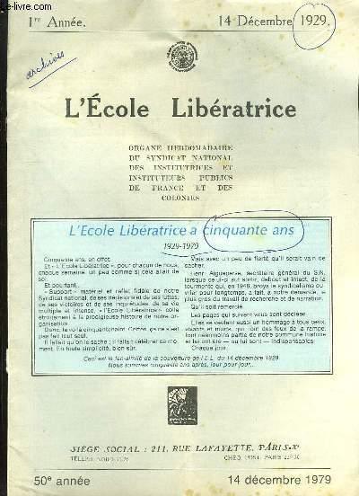 L ECOLE LIBERATRICE DU 14 DECEMBRE 1979.