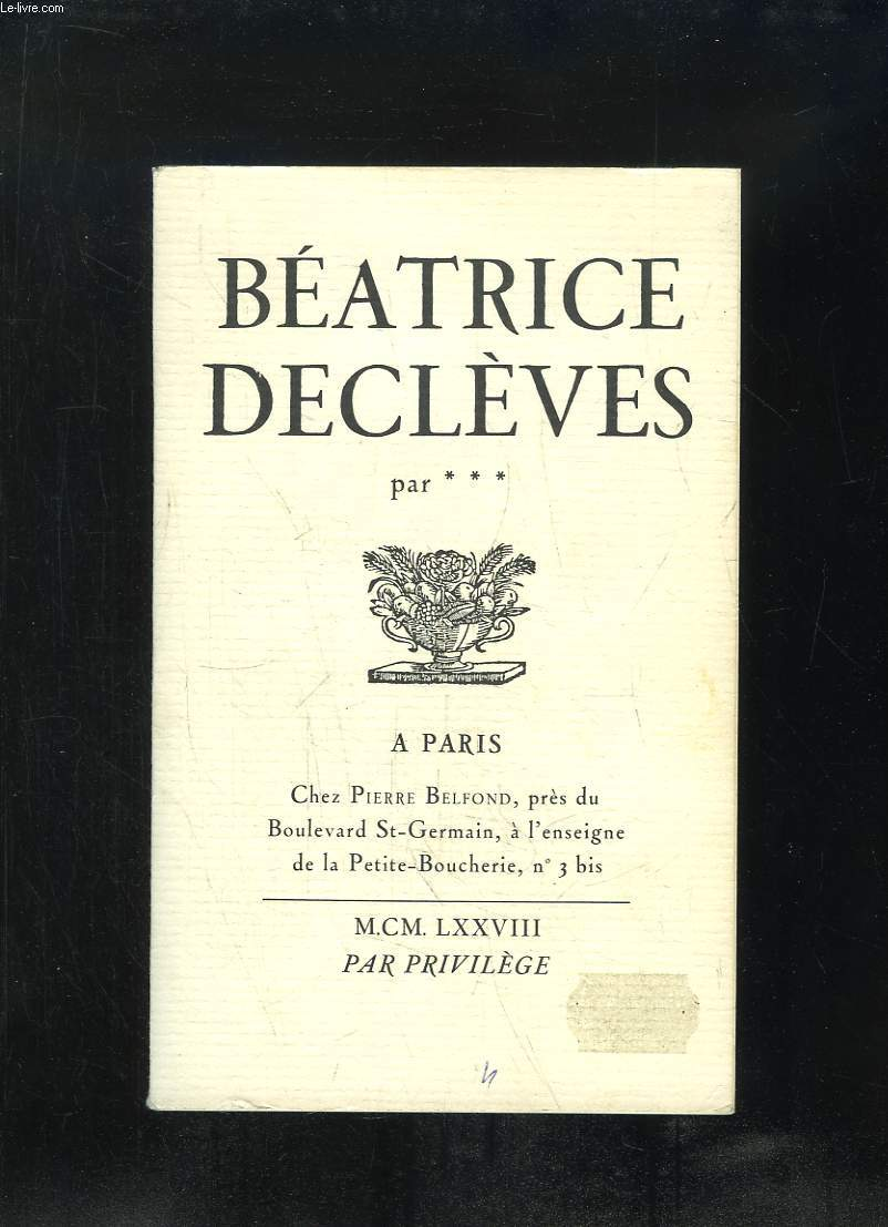 BEATRICE DECLEVES.