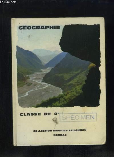 GEOGRAPHIE GENERALE CLASSE DE 2e. SPECIMEN.