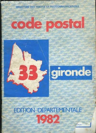 CODE POSTAL 33 GIRONDE.