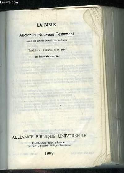 la bible ancien et nouveau testament pdf