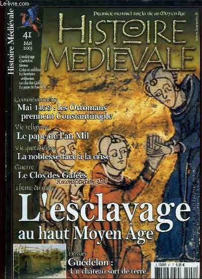 HISTOIRE MEDIEVALE N° 41 MAI 2003. SOMMAIRE: MAI 1453 LES OTTOMANS PRENNENT CONSTANTINOPLE, LE PAPE DE L AN MIL, LA NOBLESSE FACE A LA CRISE, LE CLOS DE GALEES..