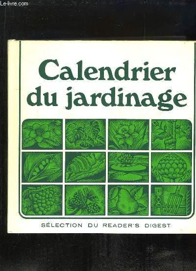 CALENDRIER DU JARDINAGE.