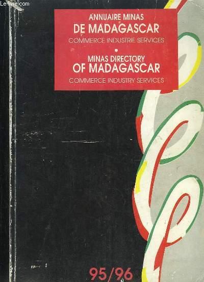 ANNUAIRE MINAS DE MADAGASCAR COMMERCE INDUSTRIE SERVICES. 1995 - 1996.
