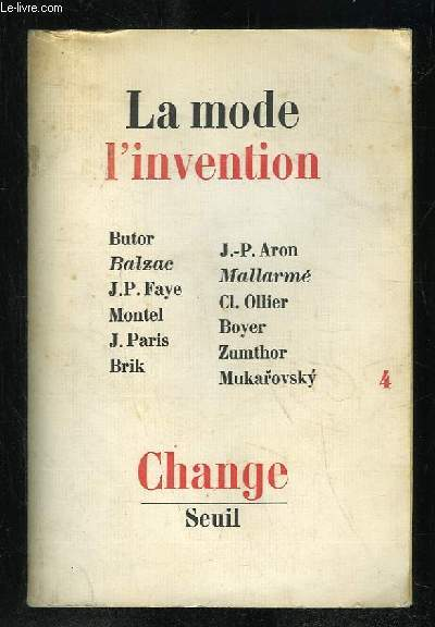 LA MODE L INVENTION .