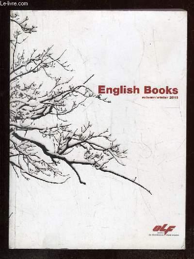 ENGLISH BOOKS AUTUMN WINTER 2010. TEXTE EN ANGLAIS.