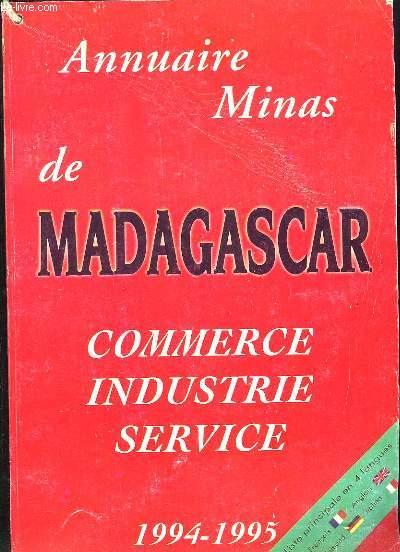 ANNUAIRE MINAS DE MADAGASCAR. COMMERCE INDUSTRIE SERVICE.