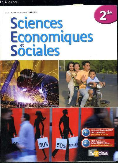 SCIENCES ECONOMIQUES ET SOCIALES 2de.