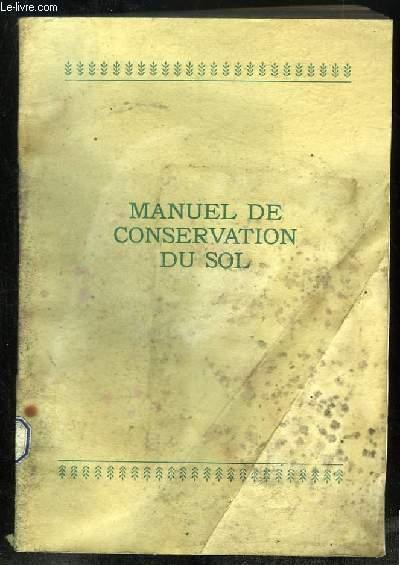 MANUEL DE CONSERVATION DU SOL.