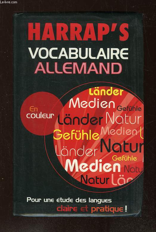 HARRAP S VOCABULAIRE ALLEMAND.