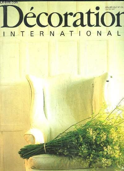 DECORATION INTERNATIONALE N° 63 JUILLET AOUT 1983. SOMMAIRE: UN DECORATEUR PASSIONNE PAR LE ZODIAQUE FAIT ENTRER LES ASTRES AU LOGIS, LA MAISON MOSAIQUES,