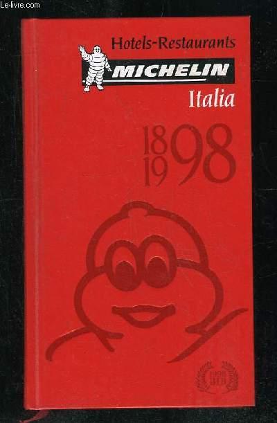HOTELS RESTAURANTS ITALIA 1898 - 1998.