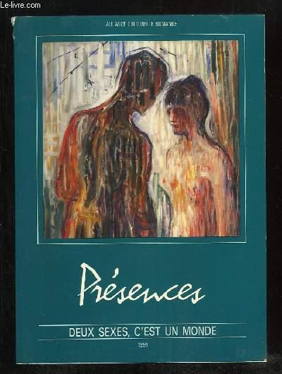 PRESENCES CAHIER N° 38 OCTOBRE 1991. SOMMAIRE; DEUX SEXES C EST UN MONDE, LA PARITE ET LE RESTE, UN MONDE OU DEUX CONVIVANCE OU SEPARATION, ASPECTS DE LA PROBLEMATIQUE EGALITAIRE EN SUISSE, VALEURS ACTUELLES DU MOUVEMENT FEMINISTE...