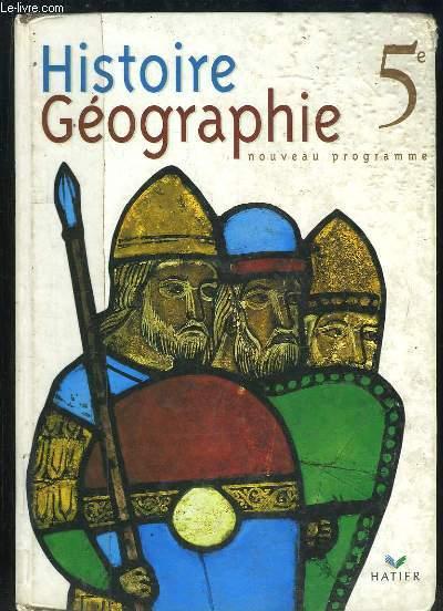 HISTOIRE GEOGRAPHIE 5e NOUVEAU PROGRAMME.