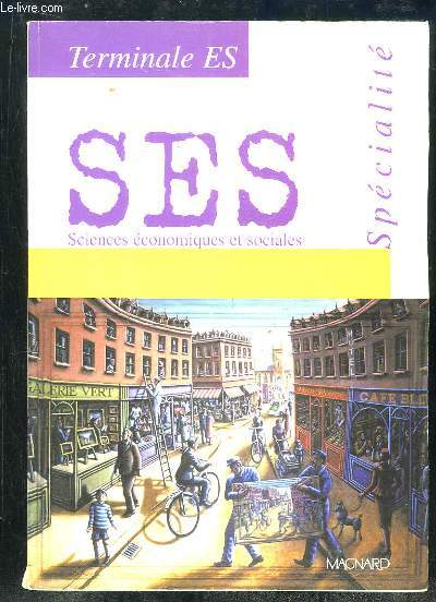 SCIENCES ECONOMIQUES ET SOCIALES. TERMINALES ES. SPECIALITE. SPECIMEN.