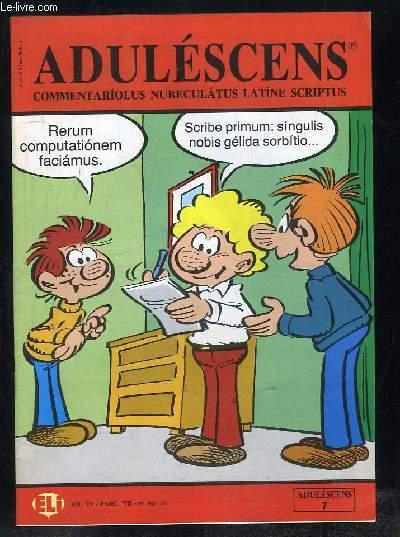 ADULESCENS COMMENTARIOLUS NUBECULATUS LATINE SCRIPTUS N° VII AVRIL 1987. ALBERTUS FELES, CULINA, DE BELLO GALLICO...TEXTE EN ITALIEN.