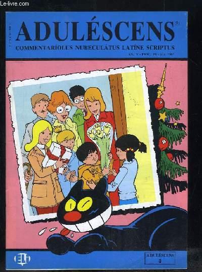 ADULESCENS COMMENTARIOLUS NUBECULATUS LATINE SCRIPTUS N° III DECEMBRE 1987. ANNA COMITESQUE, URCEUS DECEM EX FRAGMENTIS, DIES NATALIS...TEXTE EN ITALIEN.