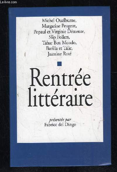 RENTREE LITTERAIRE.