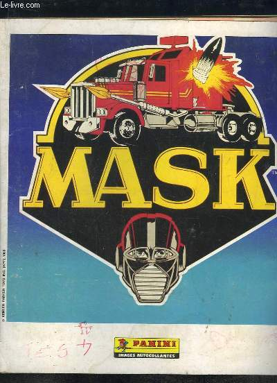 ALBUM PANINI. MASK. INCOMPLET. 165 IMAGES / 262.