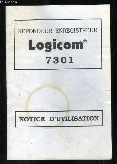 NOTICE D UTILISATION REPONSEUR ENREGISTREUR LOGICOM 7301.