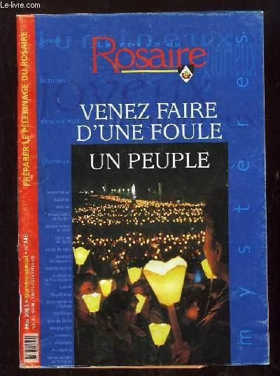 ROSAIRE N° 146 MAI 2003. VENEZ FAIRE D UNE FOULE. UN PEUPLE.