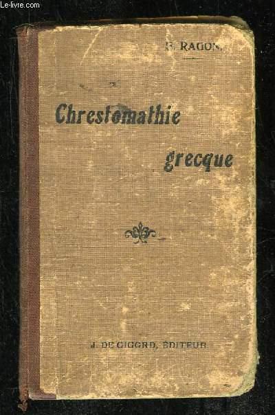 CHRESTOMATHIE GRECQUE CONTENANT TOUS LES MOTS USUELS DE LA PROSE CLASSIQUE. 14em EDITION.