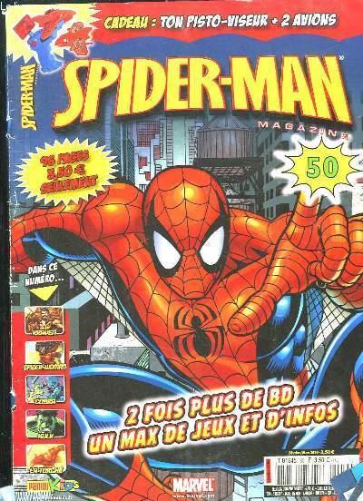SPIDER MAN N° 50 FEVRIER MARS 2010. SOMMAIRE: 2 FOIS PLUS DE BD UN MAX DE JEUX ET D INFOS.