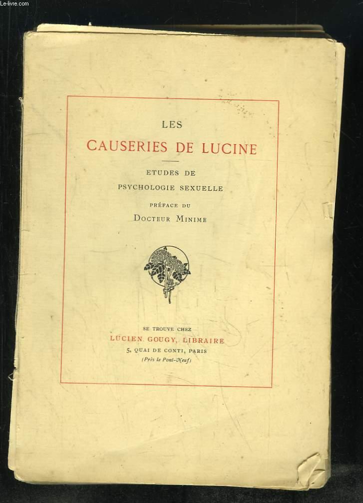 LES CAUSERIES DE LUCINE.