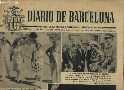 DIARIO DE BARCELONA N° 176 25 JULIO 1965. DECANO DE LA PRENSA CONTINENTAL FUNDADO EN 1792. LOS SOBERANOS BELGAS PRESIDENT UN DESFILE, LA PRINCESA BEATRIZ DE VACACIONES...