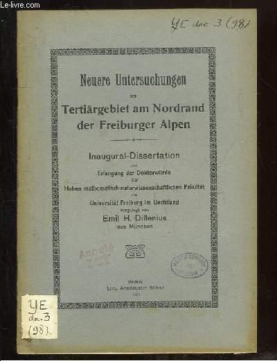 NEUERE UNTERSUCHUNGEN IM TERTIARGEBIET AM NORDRAND DER FREIBURGER ALPEN.